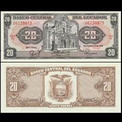EQUATEUR - Billet de 20 Sucres - Église de la Compagnie de Quito - 1988 P121Aa8 - LQ