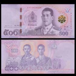 THAILANDE - Billet de 500 Baht - Roi Rama X - 2018 P138a