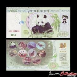 CHINE - Animal emblématique de Chine - Le Panda Géant - 2014