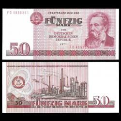 ALLEMAGNE DE L'EST / DDR / RDA - Billet de 50 Mark - Friedrich Engels - 1971