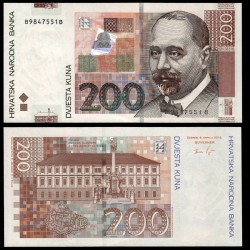 CROATIE - BILLET de 200 Kuna - Stjepan Radić - 2012 P42b