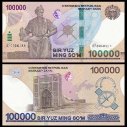 OUZBEKISTAN - Billet de 100000 Som - Ulugh Beg - 2019