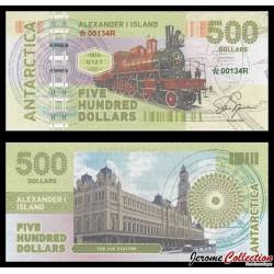 ILE ALEXANDRE Ier - Billet de 500 DOLLARS - Locomotive U-127 - 2017