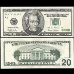 ETATS UNIS - Billet de 20 DOLLARS - b(2) New York - Président Andrew Jackson - 1999