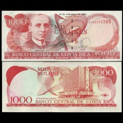 COSTA RICA - Billet de 1000 Colones - Tomás Soley Güell - 14.09.2005