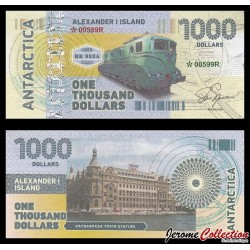ILE ALEXANDRE Ier - Billet de 1000 DOLLARS - Locomotive BB 9004 - 2017