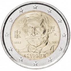 ITALIE - PIECE de 2 EURO - Giuseppe Verdi - 2013 Km#357