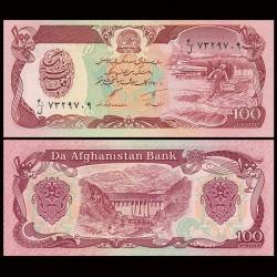 AFGHANISTAN - Billet de 100 Afghanis - 1991 P58c