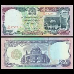 AFGHANISTAN - Billet de 5000 Afghanis - 1993