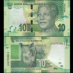 AFRIQUE DU SUD - Billet de 10 Rand - Rhinoceros - 2012 P133a