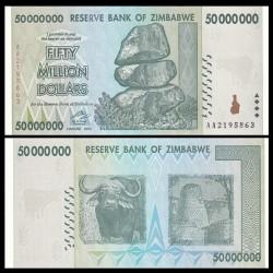 ZIMBABWE - Billet de 50000000 DOLLARS - 2008