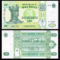 MOLDAVIE - Billet de 20 LeI - Forteresse de Soroca - 2006
