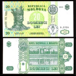 MOLDAVIE - Billet de 20 LeI - Forteresse de Soroca - 2010 P13i