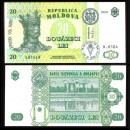 MOLDAVIE - Billet de 20 LeI - Forteresse de Soroca - 2010