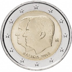 ESPAGNE - PIECE de 2 Euro - Accession au trône du roi Philippe VI - 2014 Km#1326