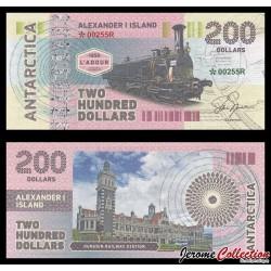 ILE ALEXANDRE Ier - Billet de 200 DOLLARS - Locomotive L'adour 1856 - 2017 00200