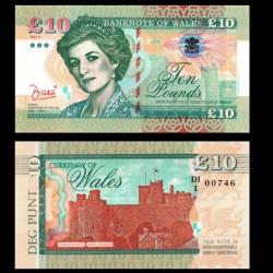 PAYS DE GALLES / WALES - Billet de 10 Pounds - Lady Diana - 2017 0010 - DIANA - Gabris