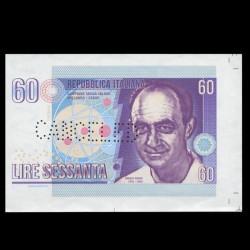 ITALIE - Billet de 60 Lire - ENRICO FERMI - Annulé - 2016
