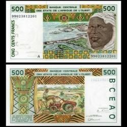 BCEAO - COTE D'IVOIRE - Billet de 500 Francs - 1999