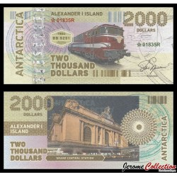 TERRE ALEXANDRE - Billet de 2000 DOLLARS - Locomotive BB9291 - 2017