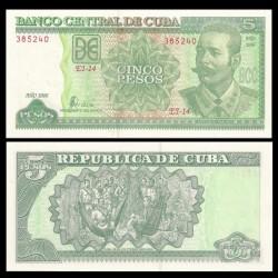 CUBA - Billet de 5 Pesos - Antonio Maceo - 2006