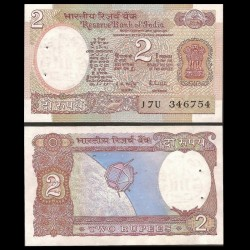 INDE - Billet de 2 Roupies - Satellite Aryabhata - 1985