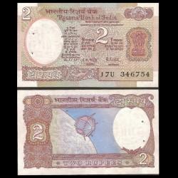 INDE - Billet de 2 Roupies - Satellite Aryabhata - 1985 P79l - Lettre B