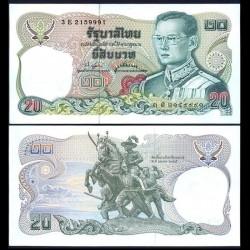 THAILANDE - Billet de 20 Baht - Statue de Taksin et Chantaburi - 1981