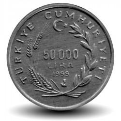 TURQUIE - PIECE de 50000 Lira - FAO, Ancien negociant en vin - 1999