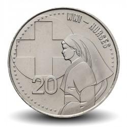 AUSTRALIE - PIECE de 20 Cents - Nurse WWI - 2015 Km#new