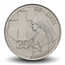 AUSTRALIE - PIECE de 20 Cents - Nurse WWI - 2015