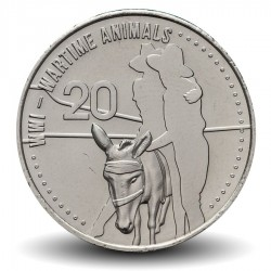 AUSTRALIE - PIECE de 20 Cents - Wartime Animals - 2015