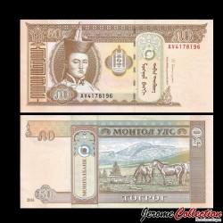 MONGOLIE - Billet de 50 Tögrög - 2016