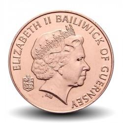 GUERNESEY (île de) - PIECE de 2 Pence - Vache - 2011