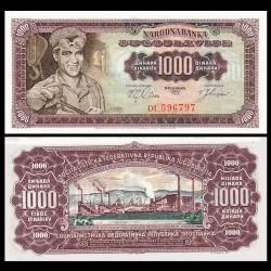 YOUGOSLAVIE - Billet de 1000 Dinara - 01.05.1963 P75a