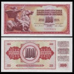YOUGOSLAVIE - Billet de 100 Dinara - 1 VIII 1965