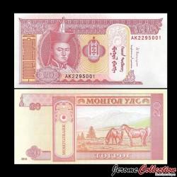 MONGOLIE - Billet de 20 Tögrög - 2014 P63h
