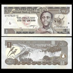 ETHIOPIE - Billet de 1 Birr - Chutes du Nil Bleu - 2003 P46c
