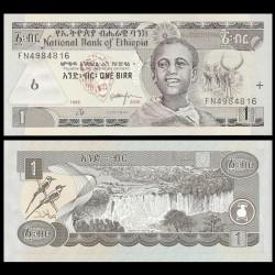 ETHIOPIE - Billet de 1 Birr - Chutes du Nil Bleu - 2006 P46d