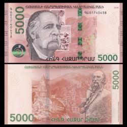 ARMENIE - Billet de 5000 DRAM - William Saroyan - 2018
