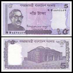 BANGLADESH - Billet de 5 Taka - 2017