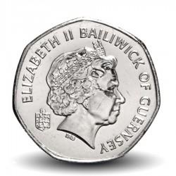 GUERNESEY (île de) - PIECE de 20 Pence - Carte de Guernesey - 2009