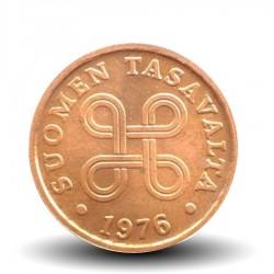 FINLANDE - PIECE de 5 Penniä - Saint Hannes cross - 1976