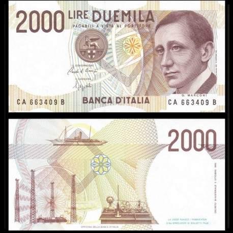ITALIE - Billet de 2000 Lire - Guglielmo Marconi - 1990 P115a