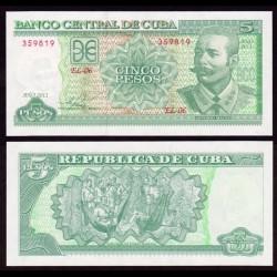 CUBA - Billet de 5 Pesos - Antonio Maceo - 2011
