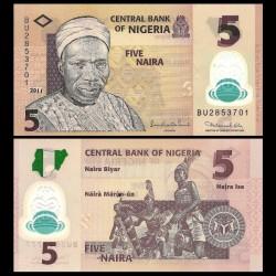 NIGERIA - Billet de 5 Naira - Polymer - 2011
