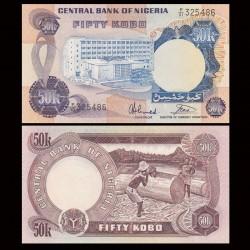 NIGERIA - Billet de 50 Kobo - Scieurs de bois - 1973 / 1978