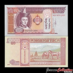 MONGOLIE - Billet de 20 Tögrög - 2009