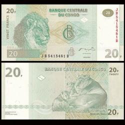 CONGO - BILLET de 20 Francs - Lion - HM - 2003 P94a