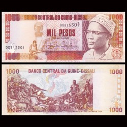 GUINEE BISSAU - Billet de 1000 Pesos -  Amilcar Cabral - 1993